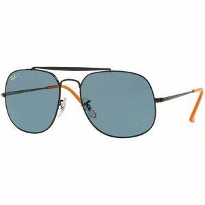 Ray-Ban Square Sunglasses W/Blue Polarized Lens
